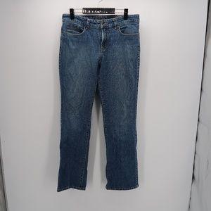 Nine West Flat Front Straight Leg Denim Jeans